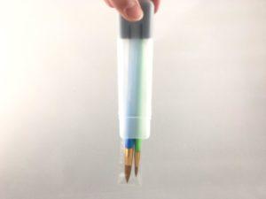 オリジナルの筆筒は筆先が傷みません