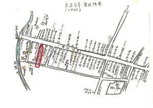 津幡町おやど商店街周辺大正9年地図